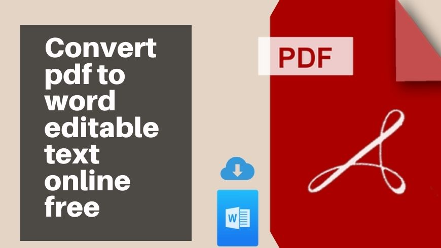 Convert pdf to word editable text online free