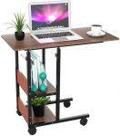 J-KING's rolling height adjustable workstation computer PC study table with shelves