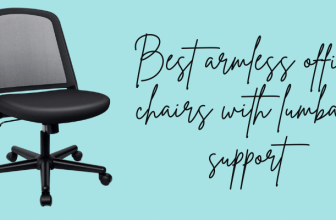 Best armless office chairs with lumbar support