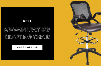 Best brown leather drafting chair
