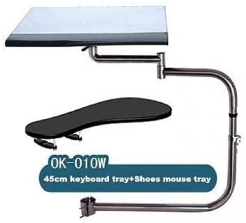 ALO Stand Ergonomic Laptop/Keyboard/Mouse Stand/Mount/Holder Installed to Chair (Silver)<strong></noscript><img class=