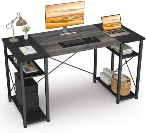 Ecoprsio Home Office Desk with Shelves, 47