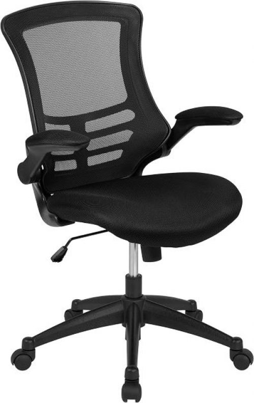 Flash Furniture Mid-Back Mesh Swivel Ergonomic Task Office Chair with Flip-Up Arms
