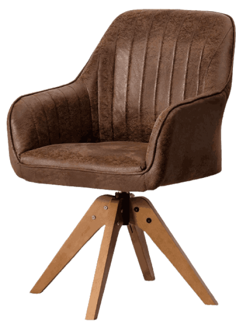 Giantex Stylish Swivel Home Office Chair, No Wheels but Swivel, Solid Wood Legs, Thick Felt Foot Pads, Modern Dining Armchair, Classy Accent Chair, Cute Writing Desk Chair for Small Space