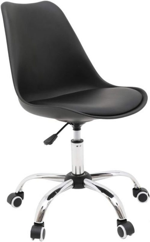 Armless Home Office Chair, Ergonomic Computer Chair with Cushion and Wheels, Conference Room Task Chair 360° Swivel Desk Chairs
