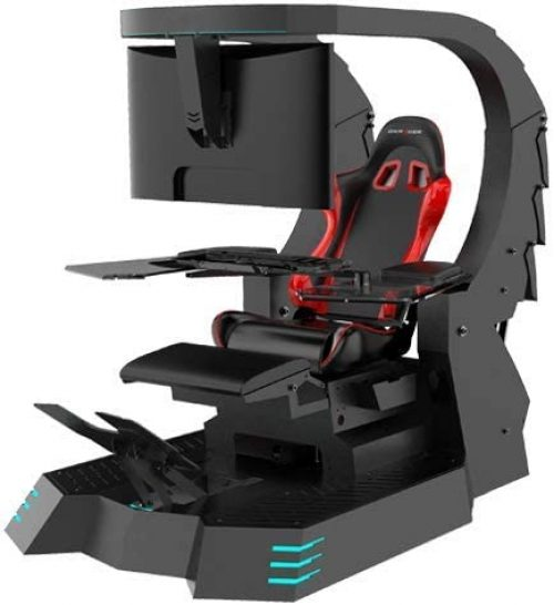 Gaming chair workstation for triple monitor by IWJ20