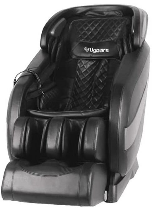 Full Body Shiatsu Massage Chair Recliner with Space Saving, Auto Body Detection, Thai Stretching, Bluetooth Speaker, Heat, Foot Roller Ugears B-L1