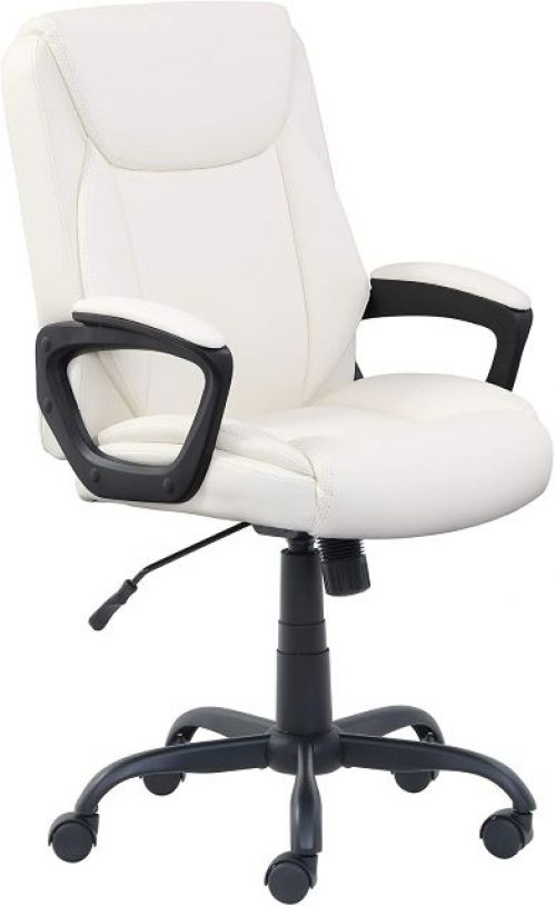PU-Padded Mid-Back Office Computer Desk Chair with Armrest by Amazon Basics