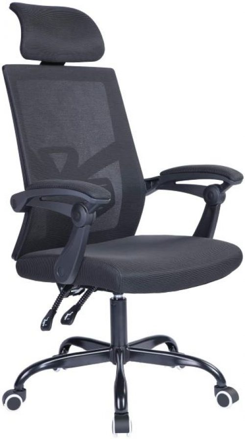 Qulomvs Mesh Ergonomic Office Chair with Headrest and Backrest Adjustable Computer Executive Desk Chair with Wheels 360 Swivel Task Chair
