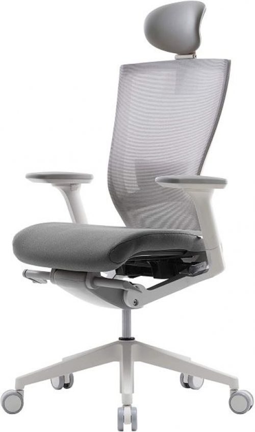 SIDITZ T50 Home Office Desk Chair: Advanced mechanism for your posture, ventilated, mesh Back, Adjustable Headrest